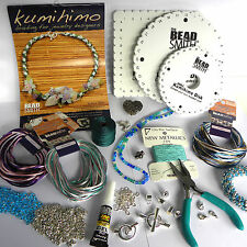 KUMIHIMO STARTER & DELUXE JEWELLERY MAKING KITS *VARIOUS COLOUR THEMES *GENUINE