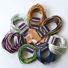 KUMIHIMO SATIN RATTAIL CORD / BRAIDING MIXES *ALL SIZES *ALL COLOURS *BEADSMITH