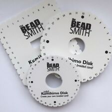 "KUMIHIMO BRAIDING DISK & INSTRUCTIONS *MINI 4"" *ROUND 6"" *SQUARE 5"" *BEADSMITH"