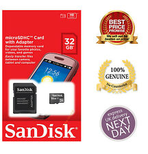 New Genuine Sandisk 8GB 16GB 32GB SDHC Class 4 Micro Memory SD Card + Adapter