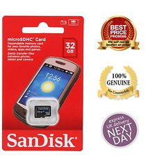 100% Authentic Sandisk 16GB 32GB SDHC Class 4 Micro Memory SD Card + Adapter