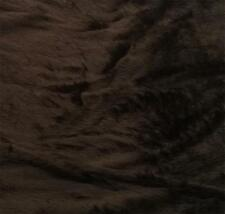 "BROWN Fur Fabric Material 60"" 150cm wide Plain 14mm Pile sold by the metre"
