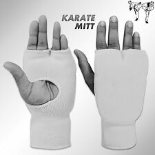 Hand Karate Mitt Martial Arts Kick Boxing Breathable Elasticated Mitts White