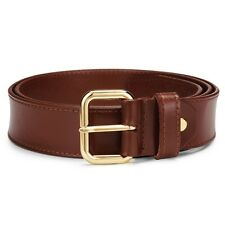 BNWT Full Grain Leather Ladies 4cm Wide Brown Wide Jeans Belt. RRP $80 AUD