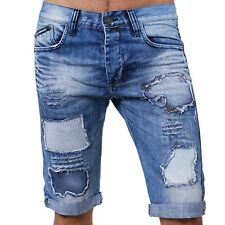 Redbridge by Cipo & Baxx vintage Jeans Shorts BEAT-UP destroyed blau RB-1010