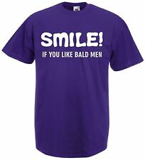Funny Mens Xmas Present Gift T-Shirt Top Christmas Dads Fathers Bald Joke Tee