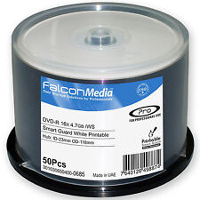 Falcon Media DVD-R Smart Guardia Inkjet Blanco Imprimible (16x) 4.7GB