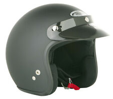 SPADA MATT BLACK OPEN FACE MOTORCYCLE HELMET NEW