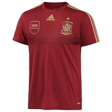Adidas World Cup Spain Replica Football Shirt Deep Red/Gold Adults
