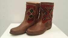 Kilim & Natural Leather Handmade Moroccan Boots Yoss