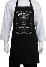 PERSONALISED AMERICAN BOURBON STYLE BBQ APRON SOUTHERN ROCK STYLE WHISKY PRINT