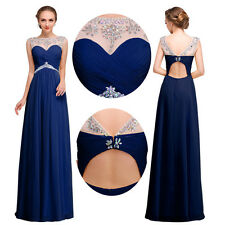 Long Chiffon Wedding Formal Evening Party Bridesmaid Ball Gown Prom Dress 4-22
