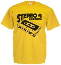 T-shirt Stereo 4, T-shirt with drawing vintage of cassette music analog