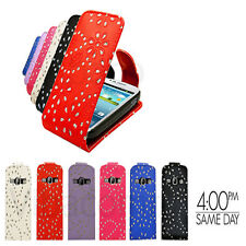 PREMIUM SPARKLING MOBILE PHONE FLIP CASE COVER FOR SAMSUNG GALAXY S3 MINI i8190