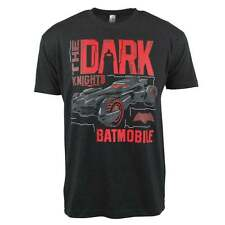 Uomo Batman v Superman Dark Knight Batmobile T-Shirt nera NUOVO DC Comics