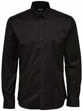 Only & Sons Herren Hemd onsDracke Anzug schwarz langarm Business Slim Fit Shirt