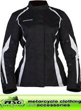 Spada Textile Planet Motorcycle Jacket Waterproof Black/White All Sizes- Ladies