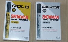 12 X PAINT MARKER SNOWMAN OIL BASE GOLDEN AND SILVER