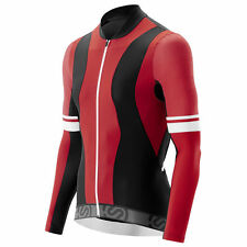 Skins Cycle Long Sleeve Jersey - Tremola - Red/Black/White - Cycling Clothing