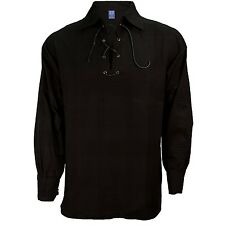 Ghillie Shirt, Scottish Highlander Deluxe, Black