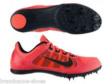 MENS NIKE ZOOM RIVAL MD 7 BLACK RED RUNNING SPIKES RUNNERS TRAINING SHOES SPORT
