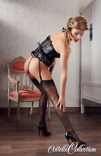 Sexy Calze con cucitura dietro Cottelli Collection Nylons Skin Stockings Blac...