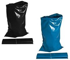 Heavy Duty Extra Strong Rubble Waste Sacks Blue Black 30kg Builders Bags Large