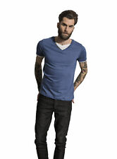 Brave Soul Fable V Neck T Shirt - Charcoal, Grey or Blue