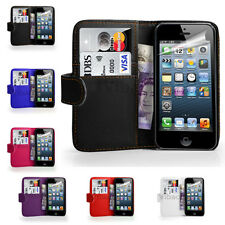 New Flip Wallet PU Leather Case Cover For Apple iPhone SE 4 4S 5 5S 5C 6 6S Plus