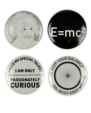 Albert Einstein Badges, buttons, quotes, science, general theory of relativity,