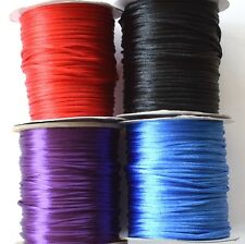 KUMIHIMO RATTAIL CORD / BRAIDING *1mm-2mm *MANY COLOURS *HIGH QUALITY *BEADSMITH