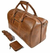 Premium Quality Full Grain Leather Duffel Gym Holdall Bag for Men Women