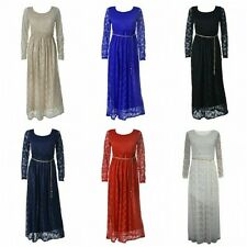 Women Ladies Long Formal Lace Prom Party Bridesmaid Evening Maxi Wedding Dress