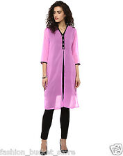 Fashion Basket Designer Georgette Pink Latest Kurti