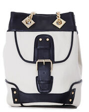 LA CARRIE BAG Borsa Secchiello Canvas Bianco Nero сумка Cotton White Bucket Bag