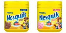 NESQUIK STRAWBERRY OR CHOCOLATE FLAVOUR MILKSHAKE POWDER...BIG 500G TUB!