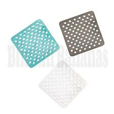 SQUARE NON SLIP ANTI SHOWER BATH SAFETY RUBBER MAT BUBBLE EFFECT SUCTION CUP PAD