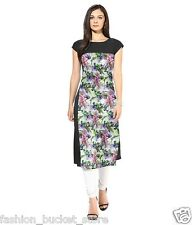 Designer Casual Wear Multi Color Digital Printed Crep New Kurti Design
