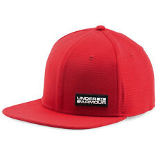 Under Armour Embossed Flat Str Mens Headwear Cap - Red All Sizes