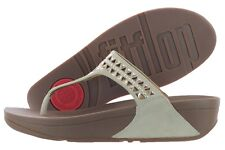Fitflop Carmel Toe-Post Sandals 671-323 Rose Gold Suede Studded Medium Women