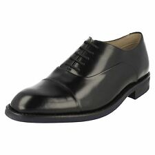 Mens Clarks Lace Up Leather Oxford / Toe Cap Shoes - Swinley Cap
