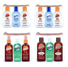 Malibu Sun Protection Water Resistant After Sun Lotion Travel Bag SPF 10 15 20