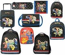 OFFICIAL POKEMON XL, MED JUNIOR BACKPACK/RUCKSACK PENCIL CASE TROLLY, WALLET