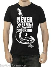 TYGA performance T-shirt black with distressed logo Never Quit Smoking logo