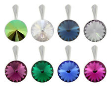 Sterling Silver Rivoli Pendants made with 1122 12mm Swarovski® Crystals