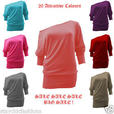 New Off Shoulder Womens Blouse Top Ladies Casual Shirt SUMMER Loose SEXY 8-26