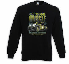 Hot Rod Pullover Old School Muscle Rockabilly Vintage Custom Army