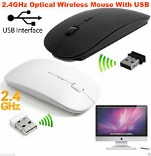 2.4GHz Wireless Senza Fili Ottico Pulsante Di Scorrimento Mouse USB Dongle