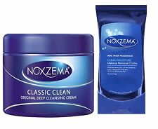 Noxzema Face Moisturising Cleansing Intense Classic Clean Skin Care Cream Wipes