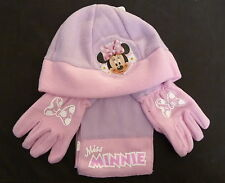 DISNEY MINNIE MOUSE HAT GLOVES AND SCARF SET ALSO SPIDDERMAN AND PEPPA PIG